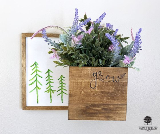 Hanging Tree Sign Wall Planter