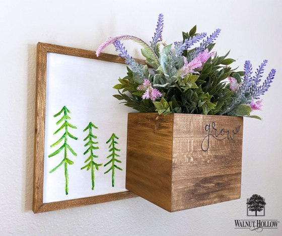 Hanging Grow Wall Sign and Planter