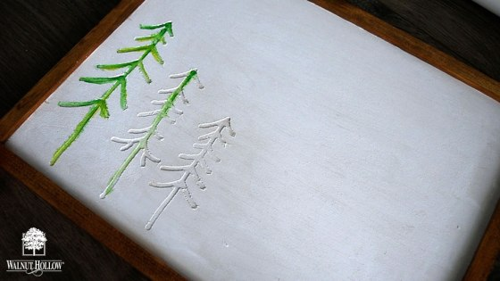 Paint the trees on the sign